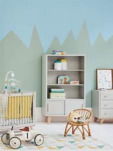 Peinture Mur Chambre : peinture g om trique dans la chambre de mini joli place ~ Voncanada.com Idées de Décoration