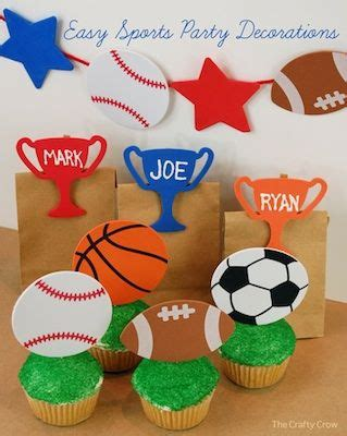 cute easy diy sports party decorations favors nice