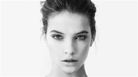 barbara palvin women face model monochrome