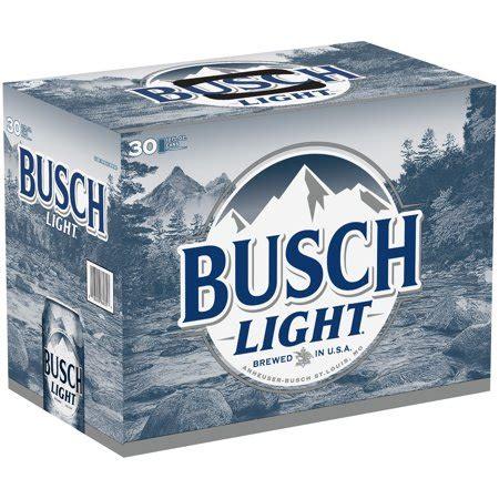 Busch Light 30 Pack Price busch light 174 30 pack 12 fl oz cans walmart