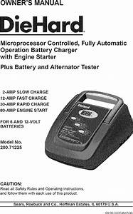 Diehard Battery Charger Manual L0805603