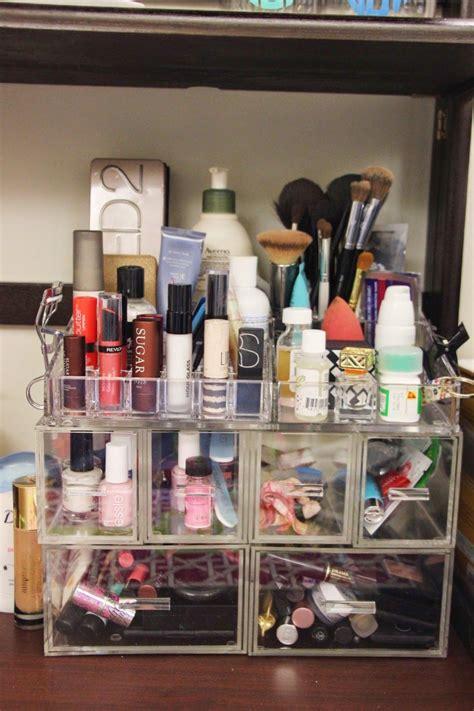 dorm makeup storage dorm room organization storage dorm