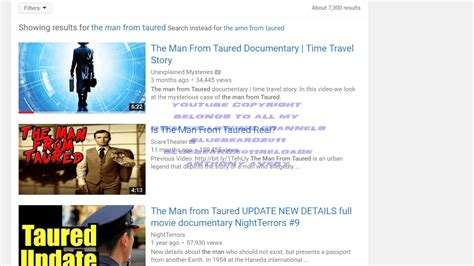 foto de the man from taured was real he was from my reality YouTube