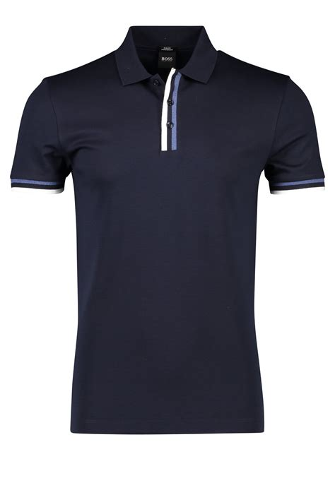 poloshirt hugo hugo poloshirt phillipson navy slim fit