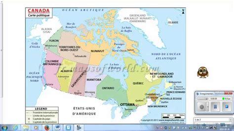cartes canada carte du monde