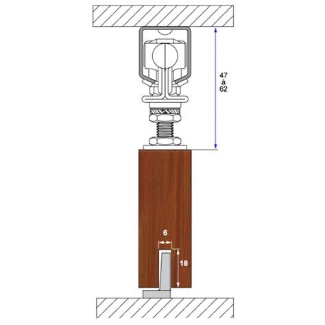 porte coulissante fixation plafond rail haut pour porte coulissante cadette mantion bricozor