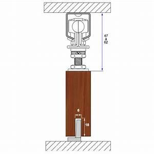 rail haut pour porte coulissante cadette mantion bricozor With porte coulissante fixation plafond