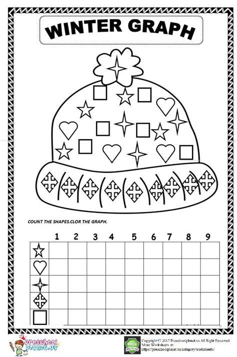 winter worksheets for counting preschool winter best