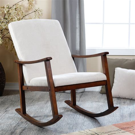 upholstered rocking chairs on
