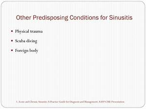 PPT - Sinusitis PowerPoint Presentation - ID:201354