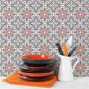 Stickers Carreaux De Ciment Cuisine : 30 stickers carreaux de ciment azulejos cleora cuisine ~ Melissatoandfro.com Idées de Décoration