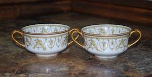 Pair Of Vintage Haviland Limoges France Green Laurel Bouillon Cups By Grilliantcreatives On Etsy