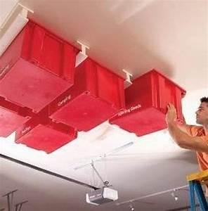 Rangement Plafond Garage : 19 garage organization and diy storage ideas hints and tips ~ Melissatoandfro.com Idées de Décoration