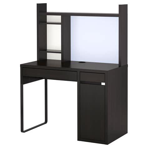 desk hutch organizer black decorating chic ikea micke desk in white and black with