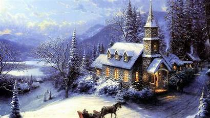 Winter Christmas Wallpapers Desktop Backgrounds Scenes Wonderland