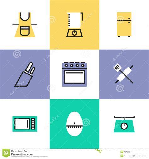 pictogramme cuisine icônes de pictogramme de vaisselle de cuisine réglées