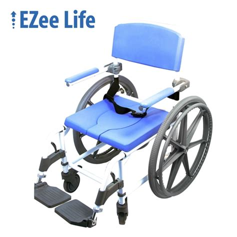 ezee aluminum shower commode chair from healthline