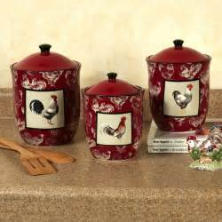 burgundy kitchen canisters country rooster kitchen canister set colorful rustic rooster kitchen rooster