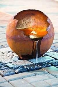Rost Im Wasser : heissner gartenbrunnen terrassenbrunnen set planet led rost kugel bild 1 beton u gartenideen ~ Watch28wear.com Haus und Dekorationen