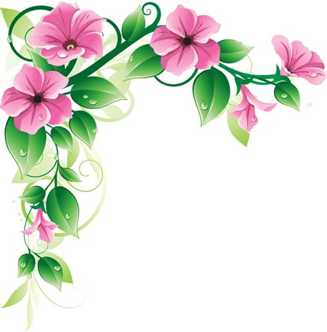 border designs with flowers latest green leaf and pink flowers border design hd my blog