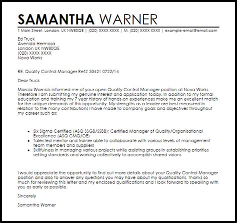 quality manager cover letter 28 images software qa
