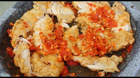 Ayam harus dibaluri adonan tepung beberapa kali sebelum angkat dan tiriskan. Resep Sambal Bawang Putih Ayam Geprek Yang Enak Dan Nikmat