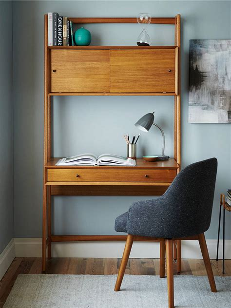 west elm mid century wall desk  john lewis partners