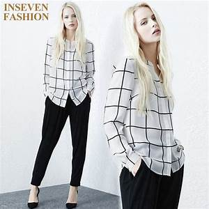 2017 Spring Women Fashion Casual Boyfriend Style Plaid ...