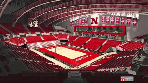 husker volleyball   devaney center  net sports feature youtube