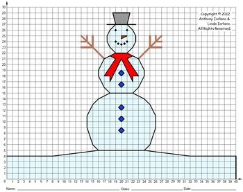 snowman middle school winter coordinate drawing