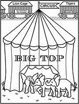Circus Coloring Tent Pages Printable Colouring Popcorn Printables Popular Coloringhome Getcolorings Getcoloringpages Library Clipart sketch template