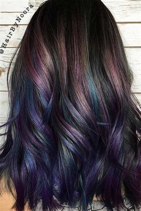 rainbow hair ideas  brunette girls  bleach required