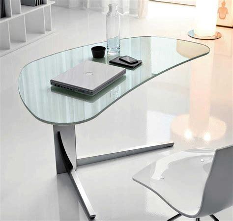 glass top work desk modern glass desks for flexible work