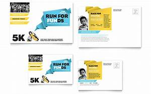 charity run postcard template word publisher With microsoft office postcard templates