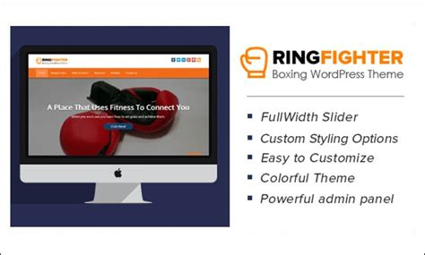 Excellent And Bold Wordpress Themes For Kick Boxing