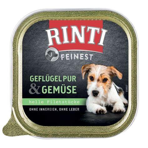 rinti feinest gefluegel pur gemuese   hunde nassfutter