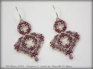 Diy Beading Pattern Ranya Earrings With Superduo Beads