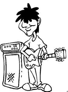 junger rocker ausmalbild malvorlage comics