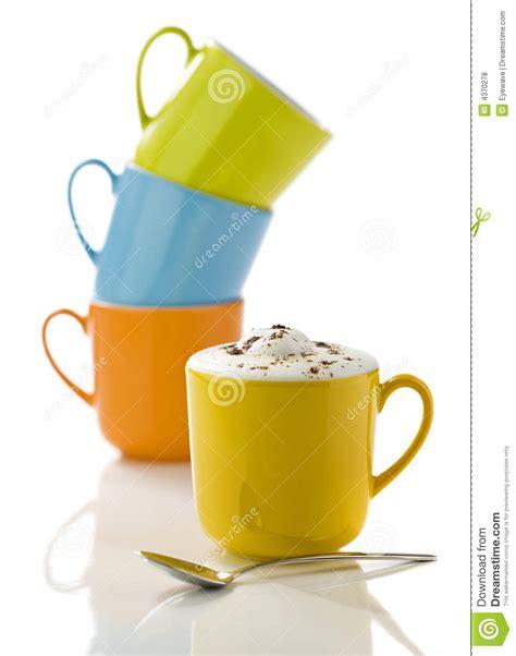 colorful mugs stock of refreshment bright 4370278