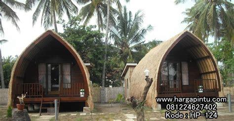 jasa pembuatan villa rumah suku sasak model resort hotel pantai harga pintu