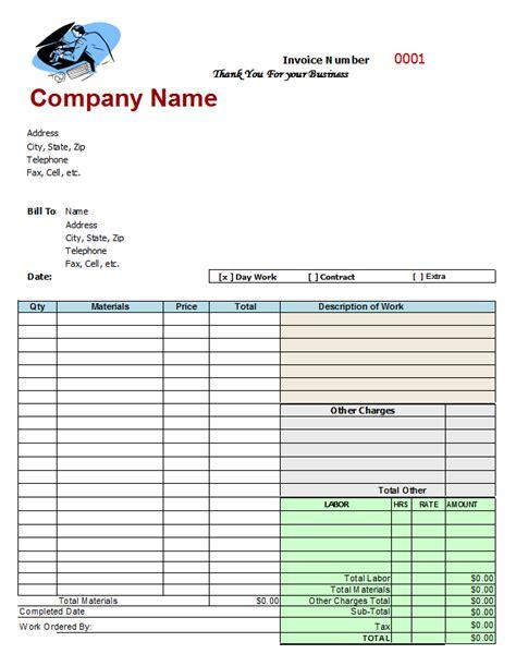 auto repair invoice template mechanic invoice template free invitation template