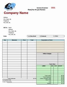 mechanics invoice auto repair invoice template With home repair invoice template