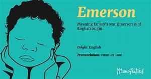 emerson name meaning origin popularity boy names like