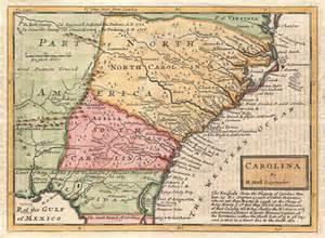 North South Carolina Colony Map