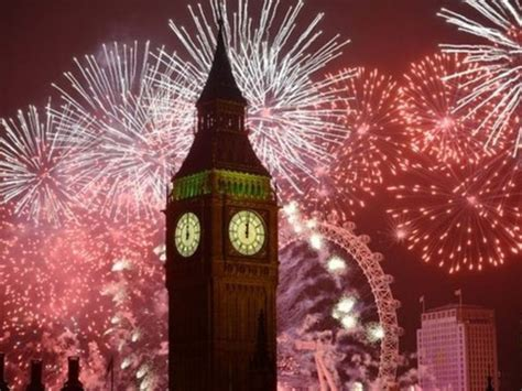 london  years eve fireworks big ben uk parliament