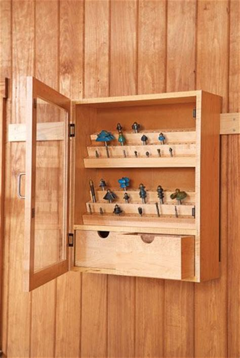 router bit cabinet woodsmith plans router bit cabinet free plan download garage storage pinterest workshop router table and