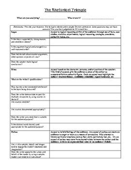 ethos pathos logos worksheet pdf answers