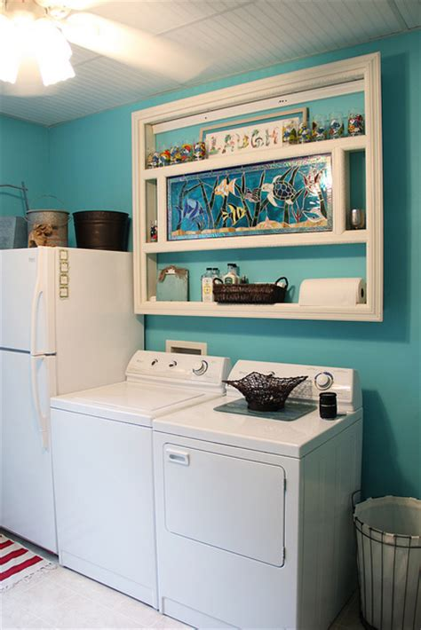 hometalk happy aqua blue laundry room makeover