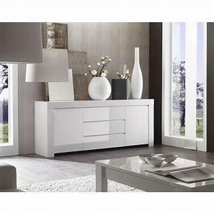 Meuble Bas Blanc Laqué : meuble blanc laque ~ Edinachiropracticcenter.com Idées de Décoration