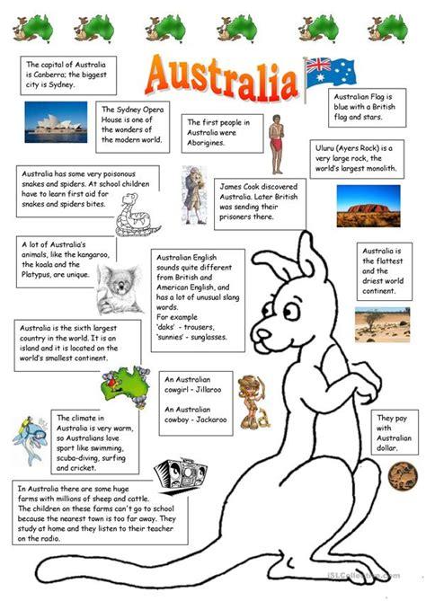 australia worksheet  esl printable worksheets
